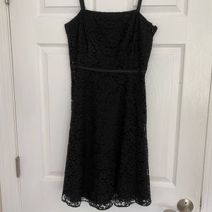 Ann Taylor Petite black lace dress